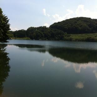 玉虫姫伝説が残る玉虫沼は、四季の変化に伴っ...