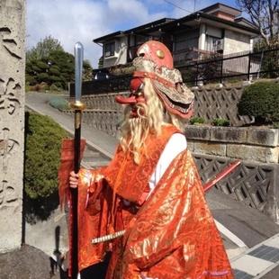 山辺三社祭天神様の天狗