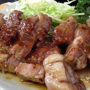 舞米豚のステーキ定食600円!